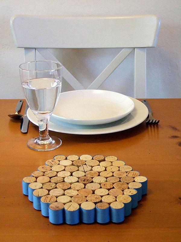 Wine Cork trivet DIY