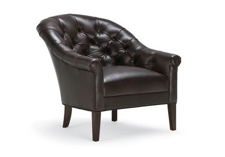 Classic Adele Leather Barrel Armchair