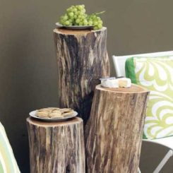 Ingenious Projects That Turn Wood Logs Into Outdoor Furniture Awesome Ideas