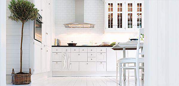 White kitchen interior design