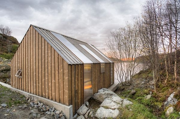 Traditional Norwegian boat house converted into summer house