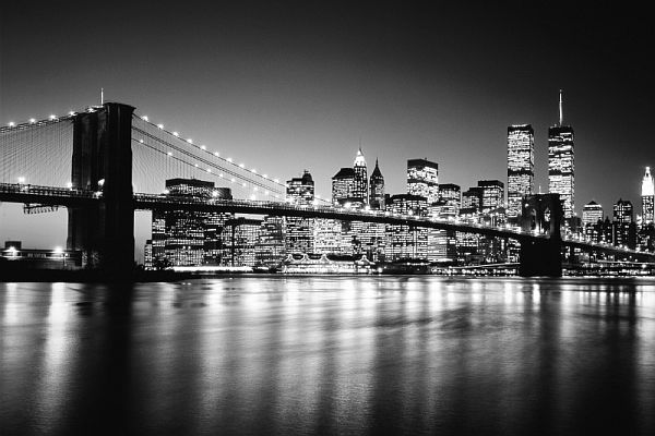 Bridge wallpaper black and white for Brooklyn bridge black and white wall mural