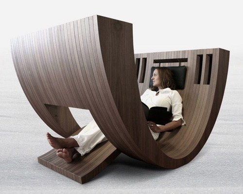 Kosha an interesting reading space design by claudio d amore for Lesesessel design