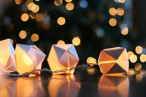 - Gorgeous DIY Paper Cube String Lights