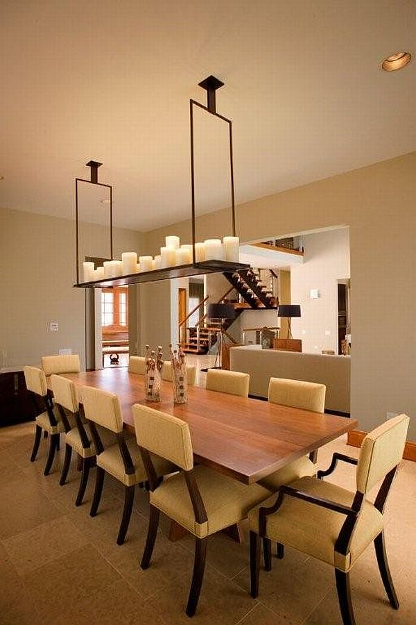 The beauty of dining tables and lamps for Modern lamps for dining room