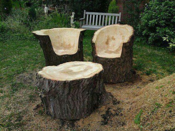 garden furniture from wood