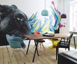 Unique graffiti apartment in Copenhagen