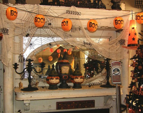 Halloween Interior Decorating halloween mantle decorating ideas