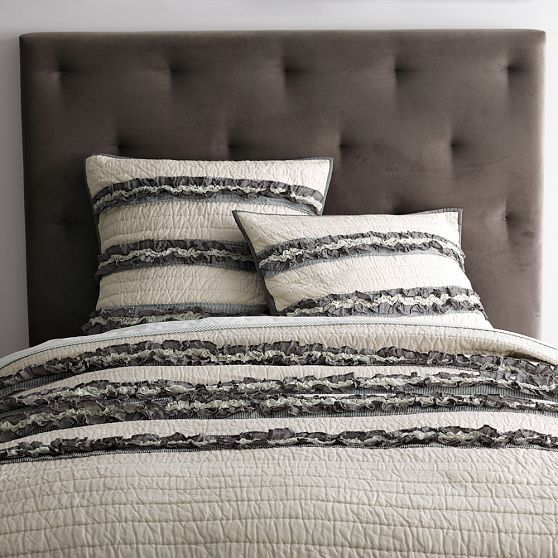 Ruffle Stripe Quilt And Shams