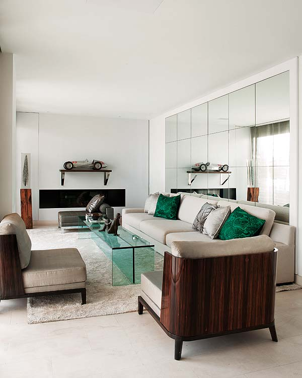 Artistic interior design apartment in Madrid