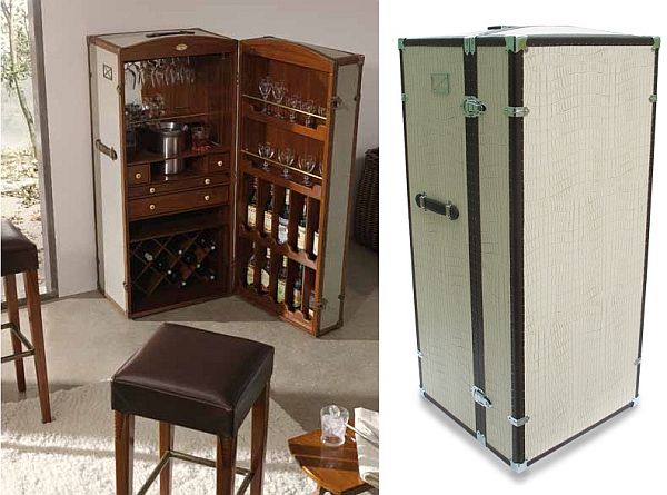 bar trunk furniture. leather bar trunk furniture homedit