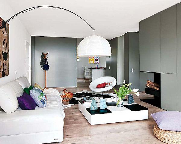 Unusually modern country house - Pisos decorados con encanto ...