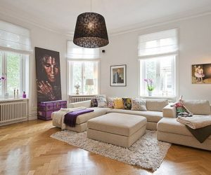 Interesting flat in Stockholm combining a multitude of styles