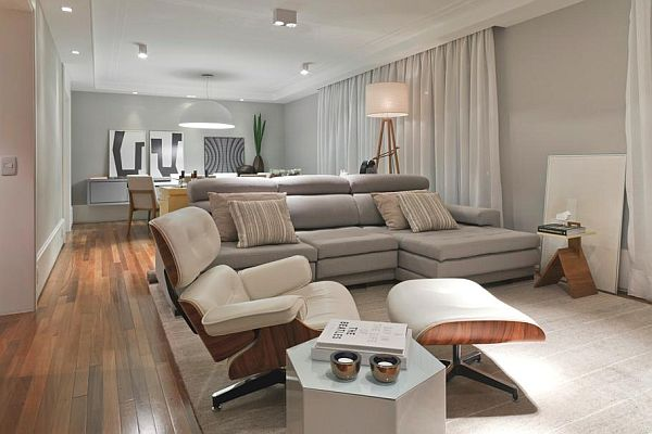 Modern apartment interior design in brazil for Modern style apartment