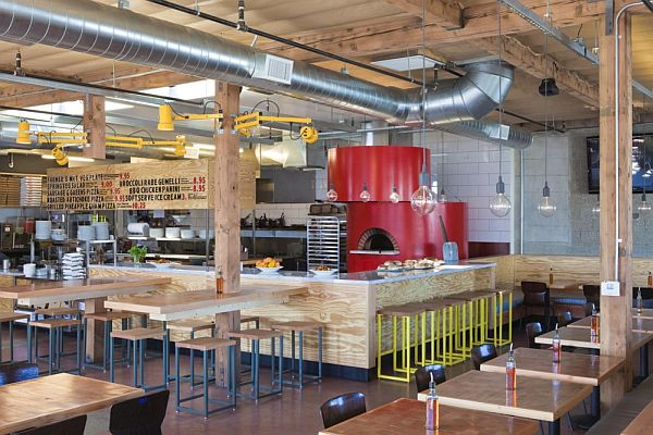 Contemporary Pitfire Pizza Interior Restaurant By Bestor