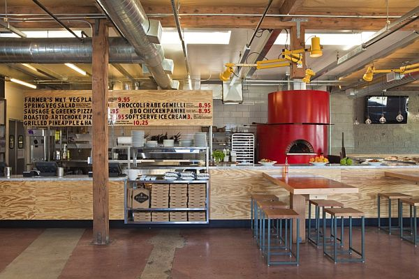 contemporary pitfire pizza interior restaurant by bestor architecture