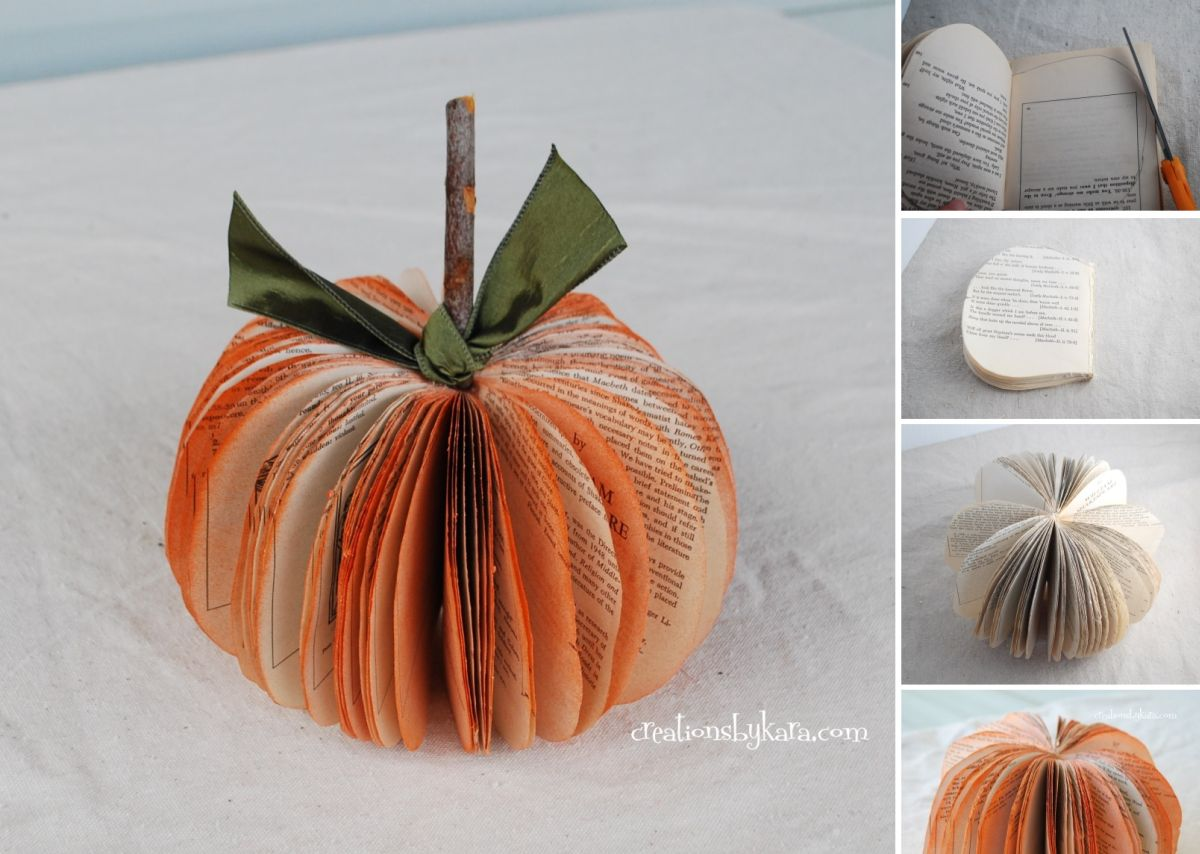 pumpkin shape out of a piece of paper