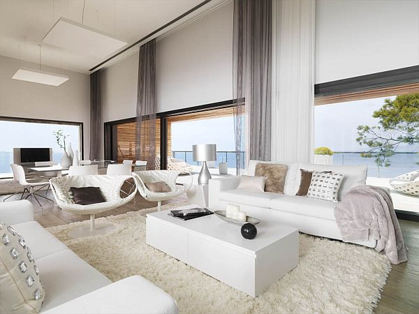 modern pure white apartment by susanna cots. Black Bedroom Furniture Sets. Home Design Ideas