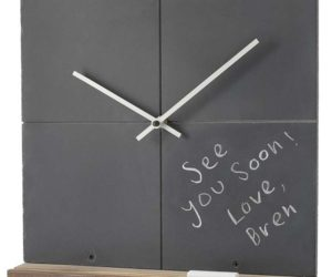 Delightful Shipu0027s Wheel Wall Clock · Reclaimed Slate Clock: Both Fun And Functional Ideas