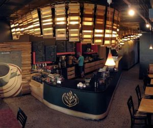 Double Overhead Unusual Coffee Shop by SARUP