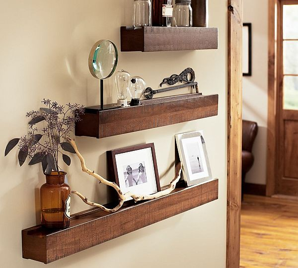 Space saving Rustic Wood Ledge