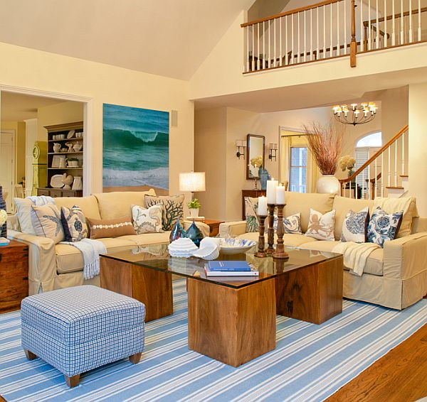 Hamptons Estate Turquoise Interior Design By Sfa Design
