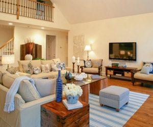 Hamptons estate turquoise interior design by SFA Design