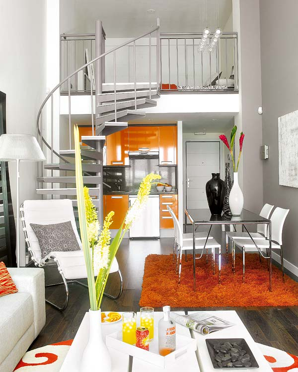interior designs of small houses.  An Ideal Small Loft Interior Design
