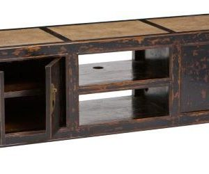 Elegant Marble Top TV Console