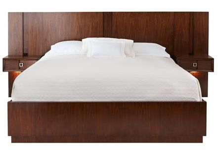 platform bed and pier nightstand combo