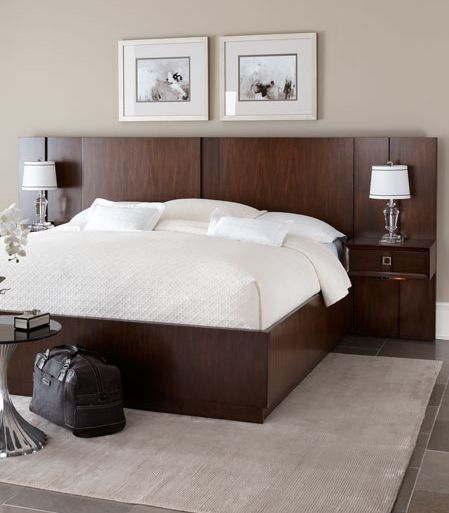 - The Chic Ventura Platform Bed And Pier Nightstand Combo