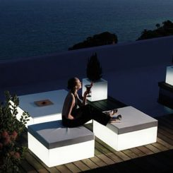 Delightful Modern And Elegant Garden Pouf By Vondom