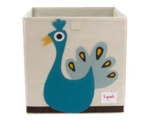 Peacock Storage Box from 3 Sprouts