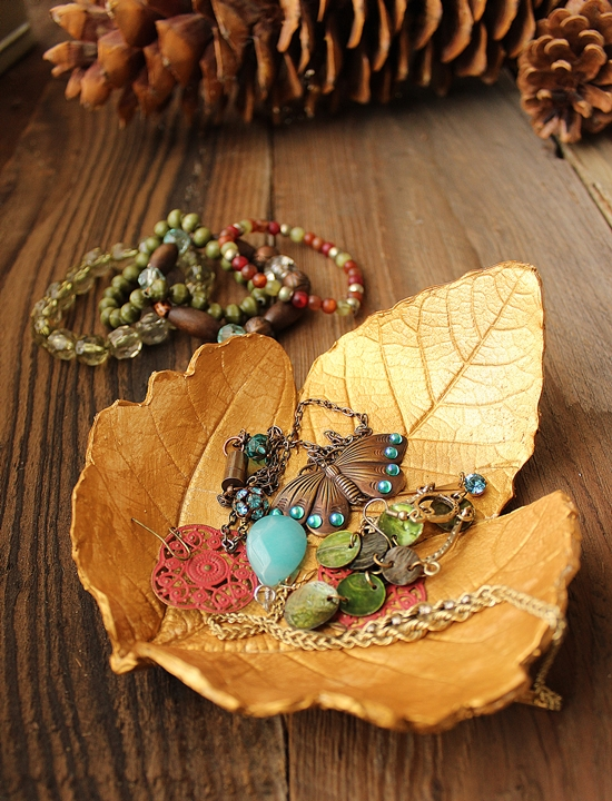Autumn Leaf Jewelry Dish