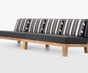 The elegant Banyan armless sofa