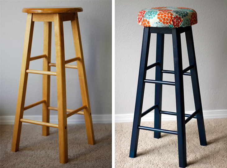 5 Ways To Give Your Old Bar Stools A Colorful Makeover
