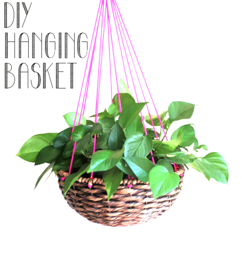 Basked hanging planter