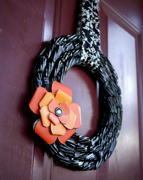 Black wreath for Halloween