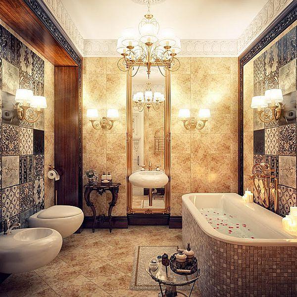 Vintage and modern bathrooms by irina schastlivaya for Exquisite home decor