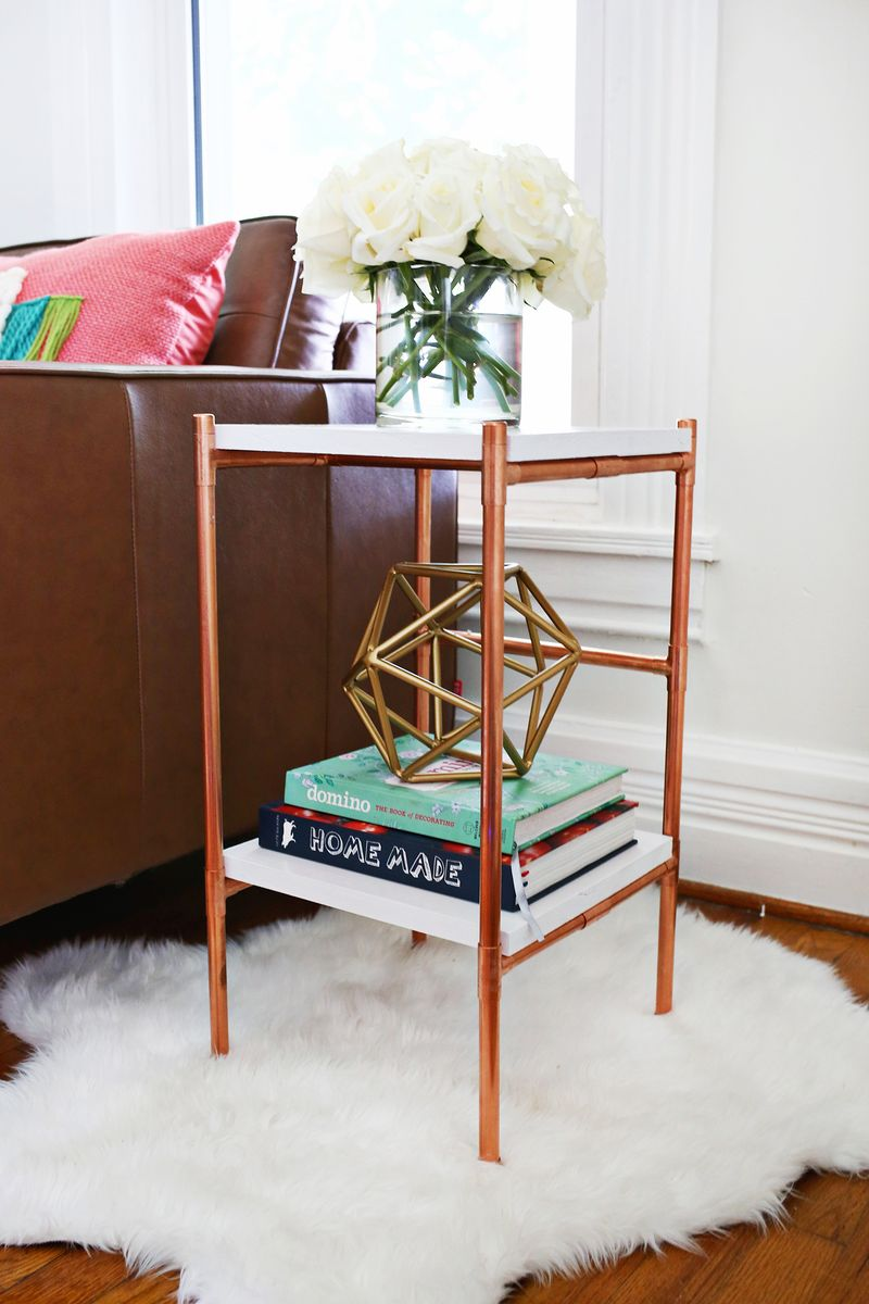 Copper side table diy