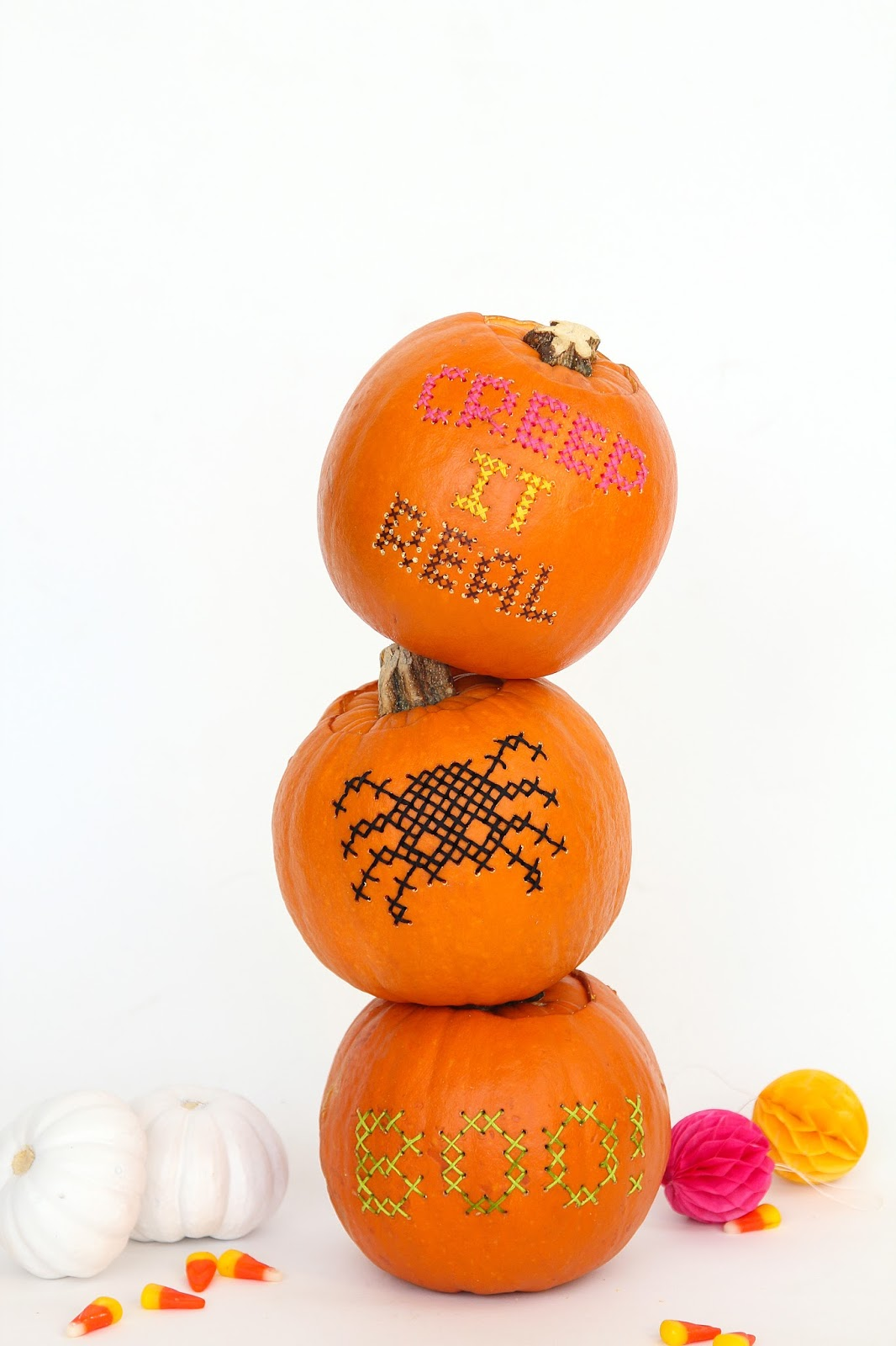 Cross stitch pumpkins