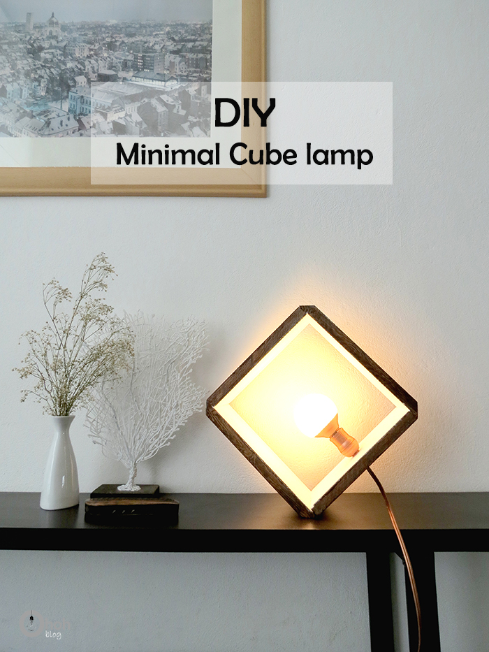 DIY wooden cube lamp