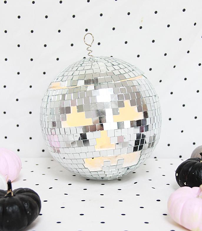 Disco ball jack o lantern
