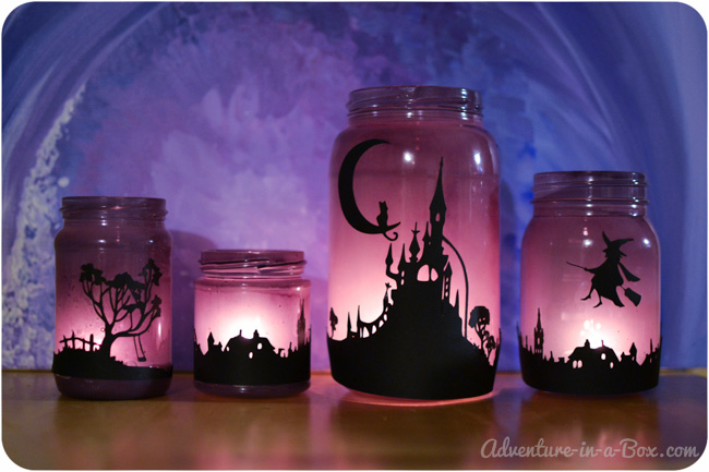 Enchanting halloween jars