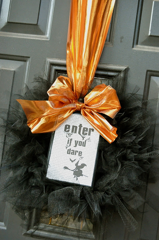 Enter if you dare - Halloween wreath for front door