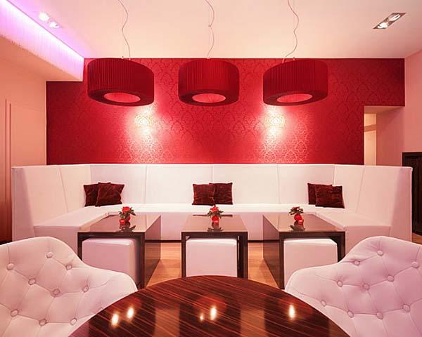 Elegant Red Fashion Bar Design by Berlin Rodeo