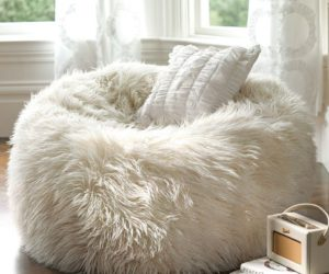 Furry beanbags for a cozy winter