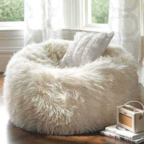 Amazing Furry Beanbags For A Cozy Winter. Ryder Rocking Chair Design Inspirations