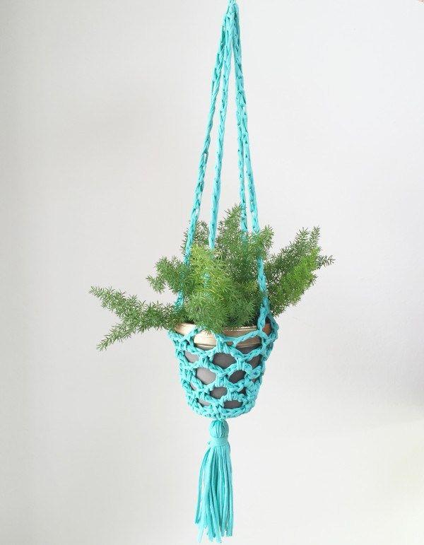 Hanging Crocheted planter