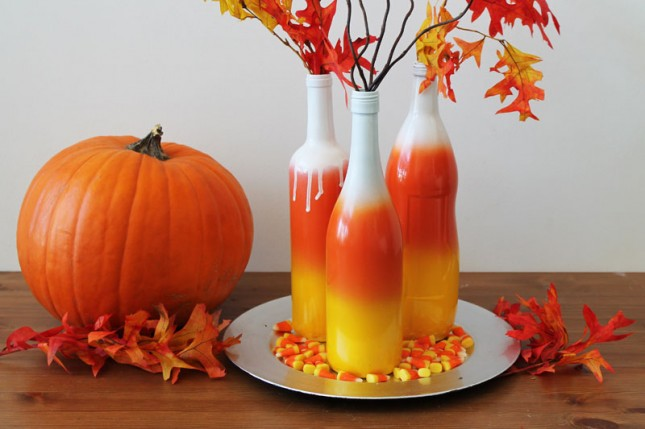 How to make some ombre bottles for Halloween